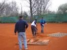 Aufbau des Tennisplatzes 2011